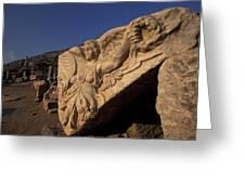 Statue In The Temple Of Domitian Greeting Card