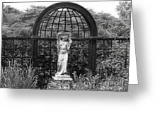 Statue Landscape Greeting Card