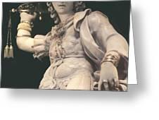 Statue Michael Greeting Card