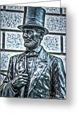 Statue Of Abraham Lincoln #7 Greeting Card