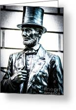 Statue Of Abraham Lincoln #8 Greeting Card