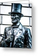 Statue Of Abraham Lincoln #9 Greeting Card