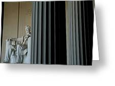 Statue Of Abraham Lincoln Is Seen Greeting Card