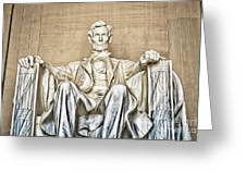 Statue Of Abraham Lincoln - Lincoln Memorial #3 Greeting Card
