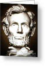 Statue Of Abraham Lincoln - Lincoln Memorial #5 Greeting Card