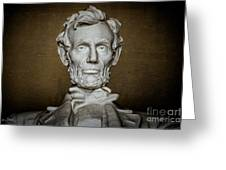 Statue Of Abraham Lincoln - Lincoln Memorial #7 Greeting Card