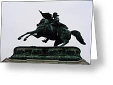Statue Of Archduke Charles, Heldenplatz, Vienna Greeting Card