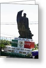Statue Of Benito Pablo Juarez Garcia  Greeting Card