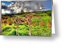 Statue Of Branches 3 Greeting Card