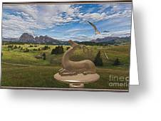 Statue Of Deer 3 Greeting Card