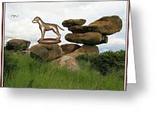 Statue Of Dog Greeting Card