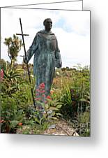 Statue Of Father Serra At Carmel Mission Greeting Card