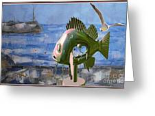 Statue Of Fish 113 Greeting Card
