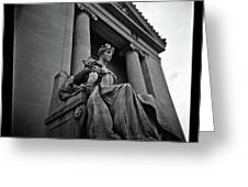 Statue Of Justice At The Courthouse In Memphis Tennessee Greeting Card