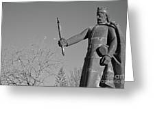 Statue Of King Afonso The Third. Portugal Greeting Card