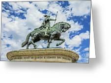 Statue Of King John I Lisbon Greeting Card