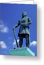 Statue Of Leif Ericksson  Greeting Card