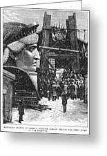 Statue Of Liberty, 1881 Greeting Card