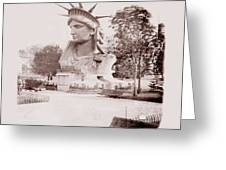 Statue Of Liberty 1883 Greeting Card