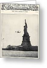 Statue Of Liberty, 1909 Greeting Card