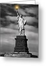 Statue Of Liberty At Dusk Greeting Card