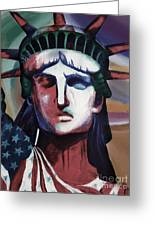 Statue Of Liberty Hb5t Greeting Card