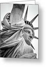 Statue Of Liberty, Lateral Portrait Greeting Card