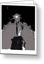 Statue Of Liberty Power Outage 1942-2014 Greeting Card