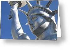 Statue Of Liberty Restaurant Courtyard Chandler Arizona 2005 Greeting Card