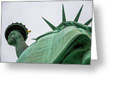 Statue Of Liberty, Torch And Crown Greeting Card