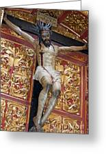 Statue Of The Crucifixion Inside The Catedral De Cordoba Greeting Card