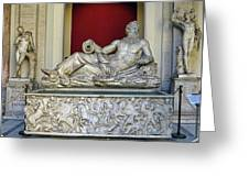 Statue Of The Greek River God Tiberinus At The Vatican Museum Greeting Card