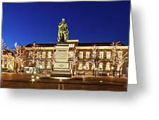 Statue Of William Of Orange On The Plein - The Hague Greeting Card