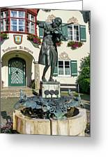 Statue Of Young Wolfgang Amadeus Mozart In St. Gilgen, Austria Greeting Card