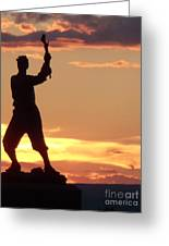 Statue On Cemerty Ridge Greeting Card