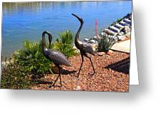 Statueque Cranes Greeting Card