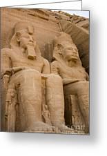 Statues At Abu Simbel Greeting Card