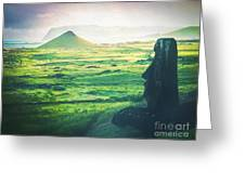 Statues Of Easter Island Greeting Card