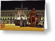 Statues View Of Buckingham Palace Greeting Card