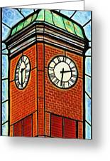 Staunton Clock Tower Landmark Greeting Card