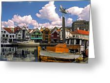 Stavanger Harbor Greeting Card