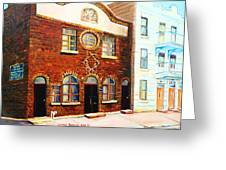 St.dominique Street Synagogue Greeting Card by Carole Spandau