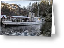 Steam Boat On Loch Katrine Greeting Card