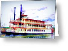 Steam Boat Greeting Card