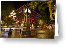 Steam Clock In Historic Gastown Vancouver Bc Greeting Card