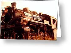 Steam Engine 3716 Greeting Card