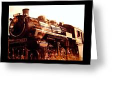 Steam Engine 3716 Greeting Card