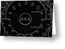 Steam Engine 444 Greeting Card