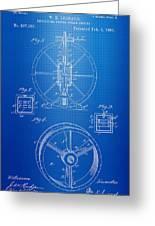 Steam Engine Blueprint Greeting Card