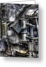 Steam Engine Detail Greeting Card